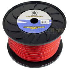 100' Ft 4 Gauge Power or Ground Wire Transparent Red Bullz Audio Bsp4.100R