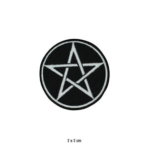 Pentagramm Viking Star Aufnäher Bestickt Zum Aufbügeln Aufnäher Für Kleidung
