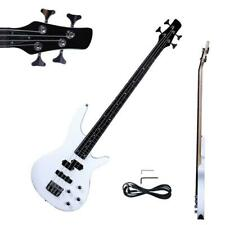 """New 34"""" IB Basswood 24 Frets Electric Bass Guitar White"""