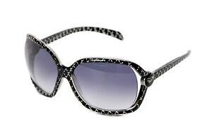 Roxy Madone Women's Oversized Sunglasses REWN015 Black Grey