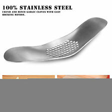 Garlic Press Grinding Grater Slicer Mincer Cutter Kitchen Tool Stainless Steel X