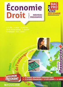 Economie Droit - Bac Pro Tertiaires - 2 Seconde professionnelle - Foucher 2010