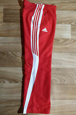 Adidas Womens Tracksuit Pants Trousers Red White Training