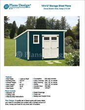 10' x 12' Deluxe Utility Garden Plans / Building Blueprints, Modern Shed #D1012M