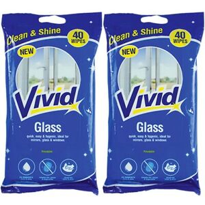 80x GLASS WIPES Fingerprint Dust Remover STREAK FREE SHINE Polish Mirror Cleaner