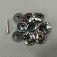 """1-1/8"""" Headset Stem Full Carbon Fiber Top Cap Cover 6g & Bolt For MTB Road Bike"""