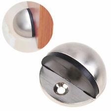 Metal Oval Door Stop Door Stopper Floor Mounted Screws Doorstop Interior Holder