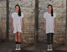 Vestiti da donna a manica corta bianca casual