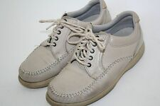 DEXTER Cream Beige Walkmocs Oxfords Lace up Casual Comfort Cushion Shoes 8 W