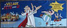 BD PuB Village en Fête chez U Astérix affiche banderole feutrine / toile UDERZO