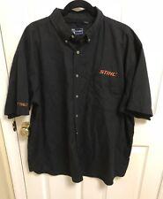 Official STIHL Tools Manufacturing Black Short Sleeve Shirt Size 2XL Heat Treat