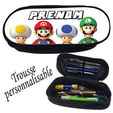 Trousse à crayons Super Mario personnalisée avec prénom V3