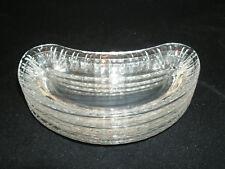 "Vtg Fostoria HERMITAGE 4-7 1/2""  Crescent Side Salad Plates 2449 Heavy Pressed"