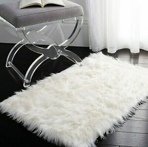 Faux Sheepskin Fur Rug