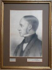 Portrait of a Gentleman. Drawing by James Aitken listed artist, circa 1870.
