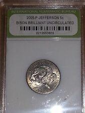 2005-D Bison Brilliant Uncirculated Nickel in Plastic Slab