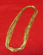 WHOLESALE LOT OF 5 14KT GOLD EP 18 INCH  1MM COBRA NECKLACES