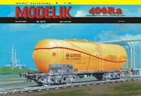 ORIGINAL PAPER-CARD MODEL KIT - Tank wagon 406Ra