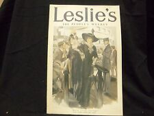 1912 SEPEMBER 26 LESLIE'S WEEKLY MAGAZINE - BACK FROM EUROPE - ST 1206