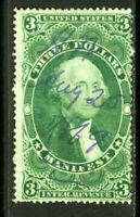 US Stamps # R86c $3 Revenue USED Fresh Scott Value $55.00