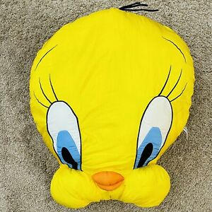Vintage Tweety Bird Head Plush Face Large Pillow Looney Tunes Play by Play 1994