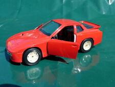 Porsche 924 Turbo Modèle Voiture Burago Métal 1:24 Inutilisé Modèle