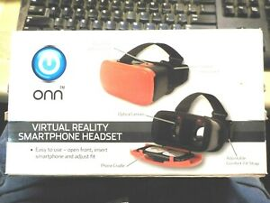 ONN red Viritual Reality Smartphone headset. New in box / fits up to 6' screen