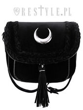 Restyle Velvet Moon Mini Bag Gothic Occult Braid Crescent Phases Handbag Purse