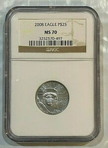 2008 1/4 oz $25 Platinum Eagle coin MS70 NGC