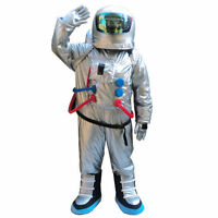 Cool Spaceman Mascot Costume Astronaut Halloween Party Fancy Dress Adult Size @