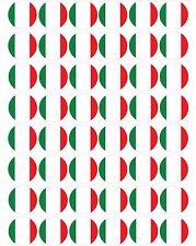 48 x Italy / Italian Flags  Pre Cut Cupcake Toppers Premium Sugar Icing Sheet