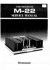 Service Manual-Anleitung für Pioneer M-22