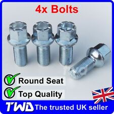 4 x ALLOY WHEEL BOLTS FOR SEAT (M14x1.5) 14MM RADIUS ROUND LUG STUD NUTS [R10]