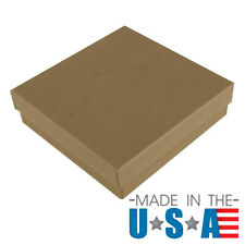 Brown Kraft Cotton Filled Gift Boxes Jewelry Cardboard Box Lots of 12~25~50~100