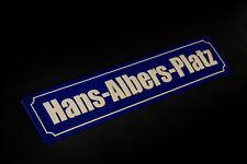 HANS-ALBERS-PLATZ Hamburg Schild Blechschild Straßenschild Metallschild 46x10cm