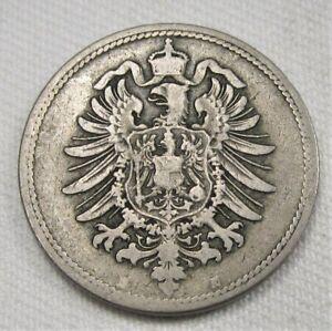 1875-H Germany 10 Pfennig FINE Coin AE350