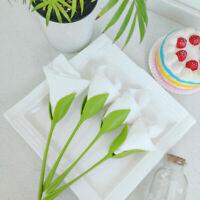 24pcs Bloom Napkin Holders Table Green Twist Rose Flower Buds Serviette Holder U