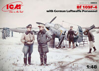 1/48 Assembly kit model Bf 109F-4 with German Luftwaffe Personnel (ICM)