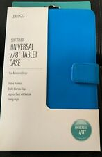 Universal  Blue Soft Touch 7/8 inch Tablet case