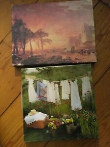 LOT 2 Vintage Springbok Puzzles Emigrants Crossing the Plains & Pretty Things