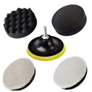 Round 5in Car Body Headlight Repair Kit Polishing Sponge Cleaner Cleaning Tool
