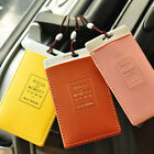 Safety Airplane Luggage Tag Tavel Tag Synthetic Leather Air Plane Address Label