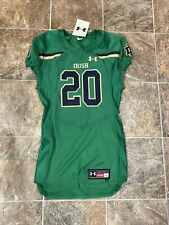 Notre Dame Under Armor Football Jersey Size Large And Pant Green Gold