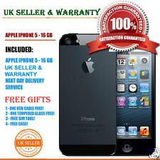 Apple iPhone 5 16gb Nero e Ardesia Sbloccato Telefono 4g grado C & Free Regalo