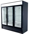 True® GDM-72 3-Door / Three-Door / Glass Door Commercial Cooler / Refrigerator