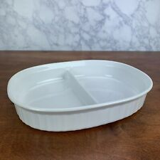 Vtg. CORNING WARE 'French White' 1.5 Qt. Oval Baking Dishes (F-6-B)