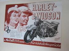 Motorrad Archiv Edition Faksimile 1091E Harley Davidson 750ccm V2 WLD 1949