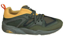 Puma Blaze Of Glory Camping Lace Up Olive Green Textile Trainers 361408 03 D15