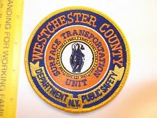 New York Westchester County Police Surface Transportation Transit Detail patch