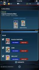 topps marvel collect Blast From The Past Blue Complete Set - 10 Digital Cards